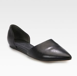 Vince Nina Leather D'orsay Flats
